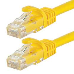 Ethernet Cable Cat6 7 Ft Yellow 24AWG