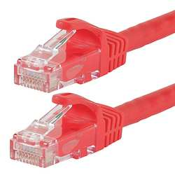 Ethernet Cable Cat6 20 Ft Red 24AWG