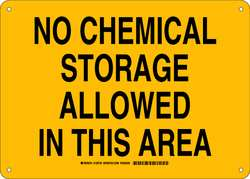Chemical Sign Plastic 10 x 14 in Blk/Ylw