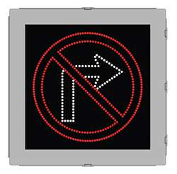 LED Sign No Right Turn Symbol 24 In