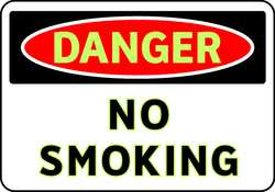 D4772 Danger No Smoking Sign 7 x 10In ENG Text