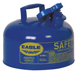 Type I Safety Can 2 gal. Blue 9-1/2In H