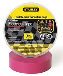 Electrical Tape 3/4 x 66 ft 7 mil Violet