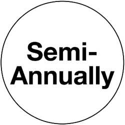 Sheet of 180 Labels Semi Annual