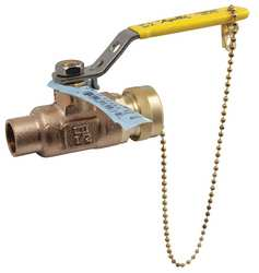 LF Bronze Ball Valve Solder 1/2 In