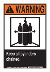 Warning Sign 14 x 10In Blk and Orng/Wht