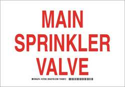 Fire Sprinkler Sign 10 x 14In Red/White