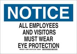 Notice Sign 10 x 14In Blk and Ble/White