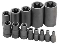 Socket Set 1/4 3/8 and 1/2 In Dr 13 pc