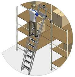 Dual Track Ladder w/Brake 145 to 155 In