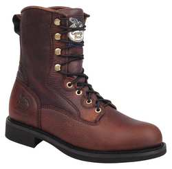 Work Boots Leather 8 In 10-1/2W PR