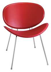 Sy Guest Chair Recycled Leather Red