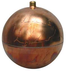 Float Ball Round Copper 12 In