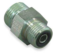Hose Adapter Male ORS Straight 9/16-18