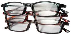 D7988 Reading Glasses +2.5 Clear Acrylic PK 3