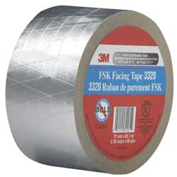 FSK Facing Tape 3 in x 50 Yd. Silver