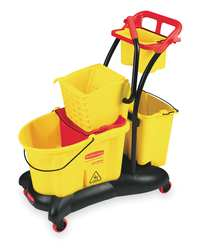 Mop Bucket and Wringer 35 qt. Yellow