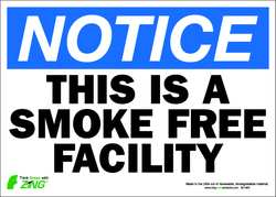 D6253 Notice No Smoking Sign 10 x 14In ENG