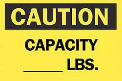 Caution Sign 7 x 10In BK/YEL ENG Text