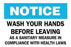 Notice Sign 10 x 14In BL and BK/WHT ENG