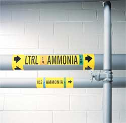 Ammonia Pipe Marker ES 3 to 5In