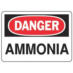 Danger Sign 7 x 10In R and BK/WHT AL ENG
