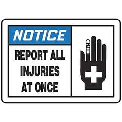 Notice Sign 10 x 14In BL and BK/WHT AL