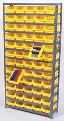 E1515 Bin Shelving Solid 36X18 96 Bins Black
