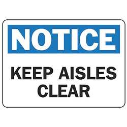 Notice Sign 7 x 10In BL and BK/WHT ENG