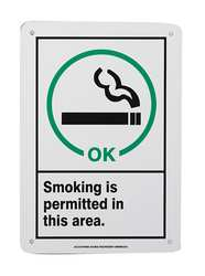 Sign 10x7 In Smoking Is Permitted