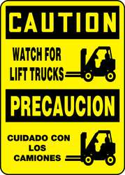 Caution Sign 14 x 10In BK/YEL PLSTC SURF