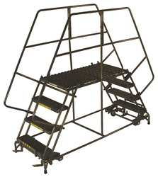 Rolling Work Platform Steel Dual 30 In.H