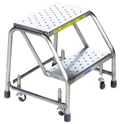 Rolling Ladder Stainless Steel 19 In.H